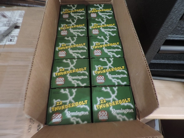 5000 Rounds of .22 Long Rifle